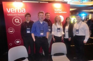 Team at stand